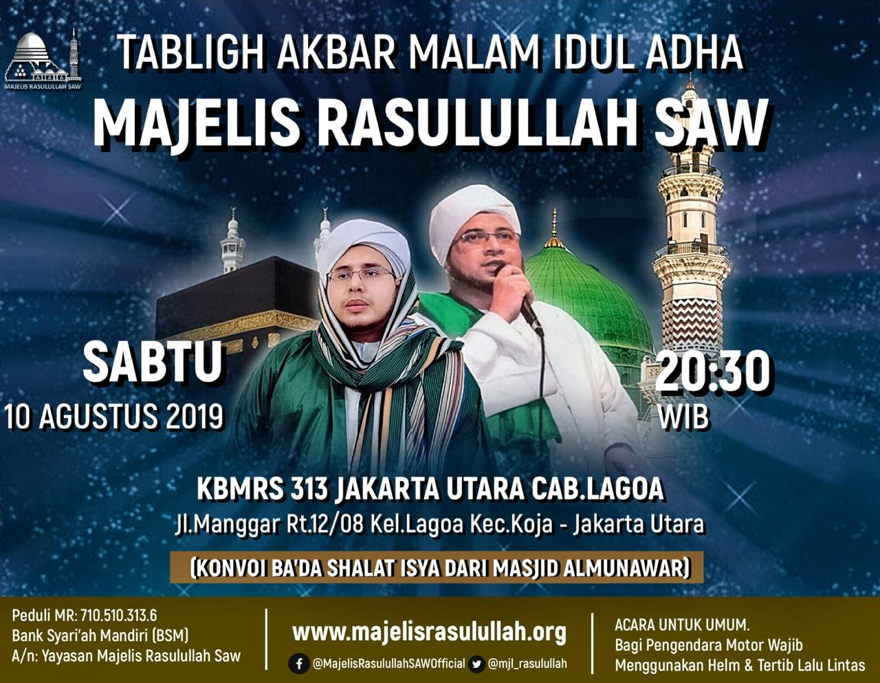 TABLIGH AKBAR MALAM EID ADHA 1440 H